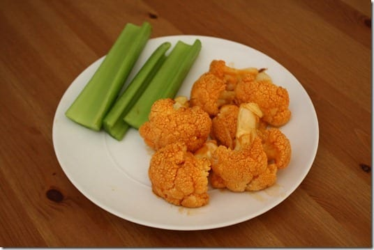 IMG 1587 1024x683 thumb Roasted Cauliflower Buffalo Wings Recipe
