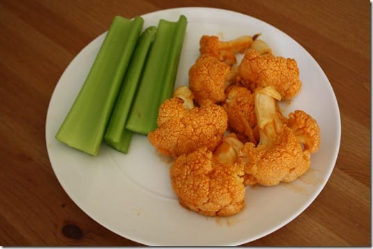 IMG 1590 1024x683 thumb Roasted Cauliflower Buffalo Wings Recipe
