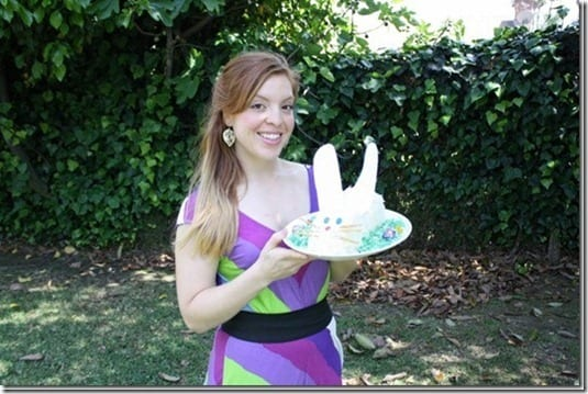 bunny cake and a girl who bakes it thumb Easter Recipes