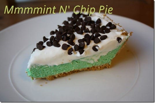 easy mint and chip pie recipe thumb Easy Mint n&rsquo; Chip Pie Recipe