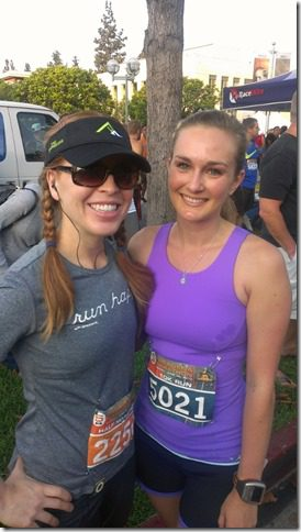 runeatrepeat and jillian 450x800 thumb Day in Oxnard and Pasadena Half Marathon Recap
