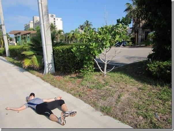 running on the sidewalk thumb Running In The Heat