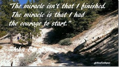 Running Motivation courage to start quote thumb Race Recap Round Up July