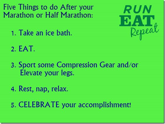 Five things to do after your marathon or half marathon thumb Five Things to Do After your Half Marathon or Marathon