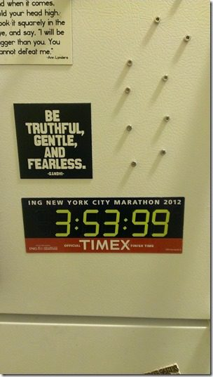 marathon time on your fridge 450x800 thumb Five Things to Do After your Half Marathon or Marathon