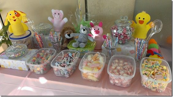 baby shower candy table for guests thumb Animal Baby Shower