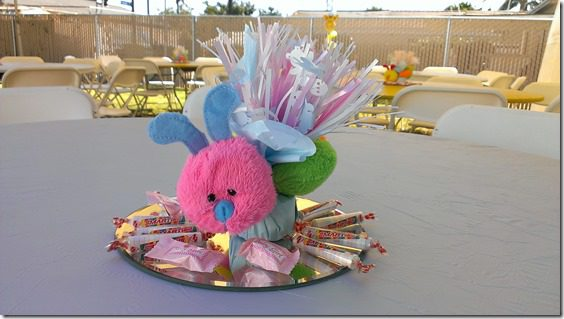 baby shower center pieces catepillar thumb Animal Baby Shower