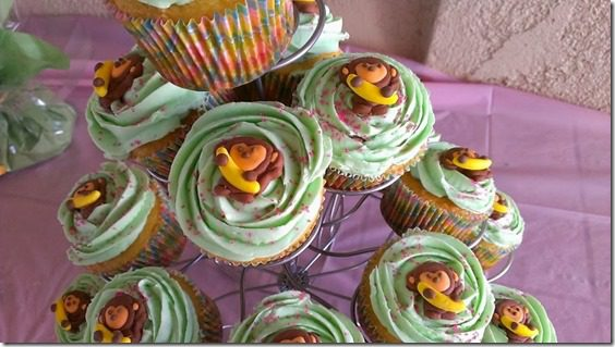 monkey cupcakes 800x450 thumb Animal Baby Shower