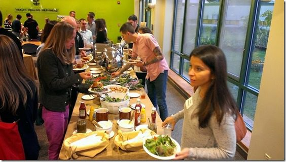 dinner time at runners world 800x450 thumb Runners World Office Tour
