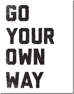 go your own way thumb Motivation Monday–Run for a Good Cause