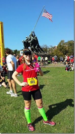 post race marine corps marathon 287x510 thumb Marine Corps Marathon Results and Recap