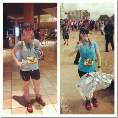 pre and post long beach marathon 800x800 thumb Long Beach Marathon Recap and Results
