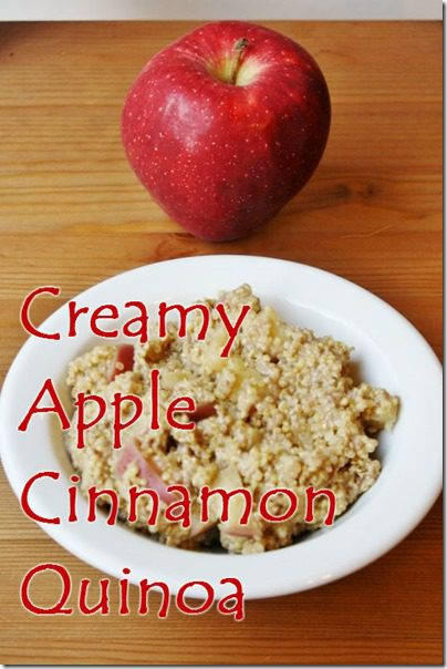 quinoa for breakfast recipe thumb Creamy Apple Cinnamon Quinoa Recipe
