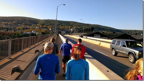 running across the bridge in bethlehem 800x450 thumb Running with Bart Yasso and Meeting Summer Sanders