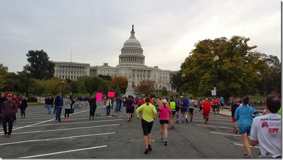 running to the capitol 800x450 thumb Marine Corps Marathon Results and Recap