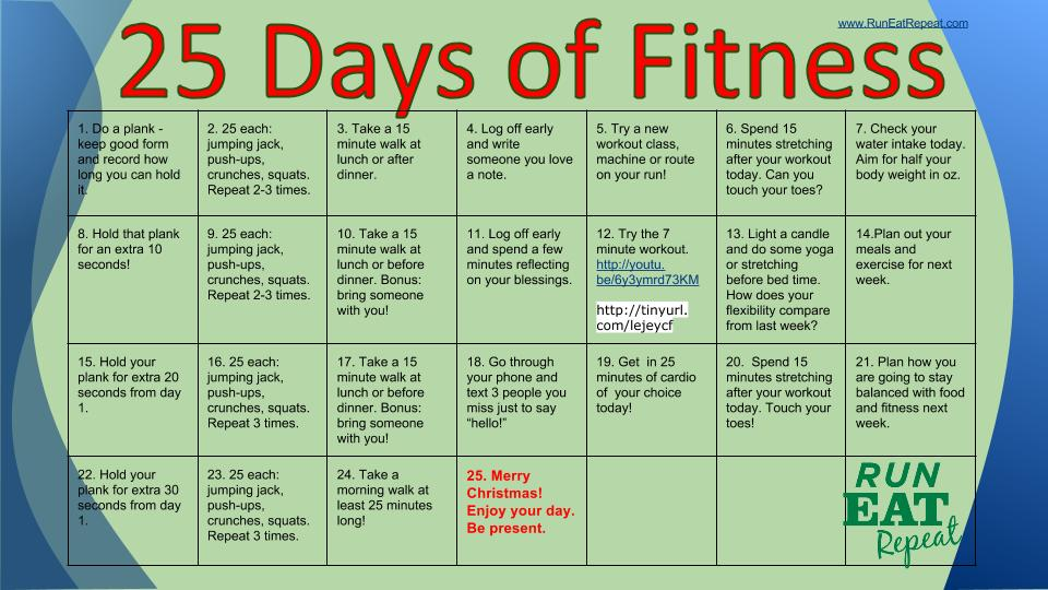 25 Days of Fitness Challenge