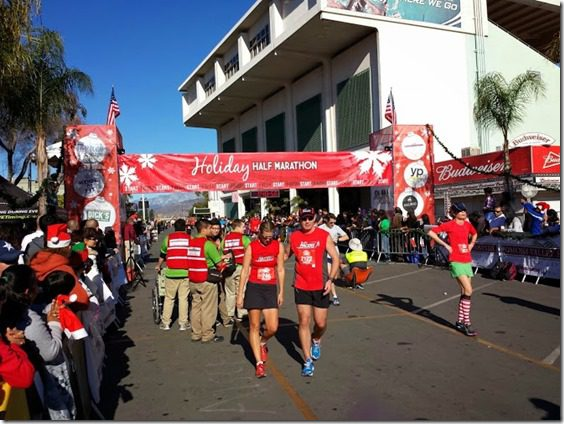 holiday half marathon finish line 668x501 thumb Holiday Half Marathon Results and Recap