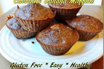 Chocolate Banana Muffins Recipe - Gluten Free, Grain Free, Chocolate Full.