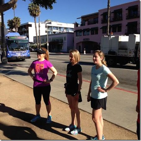 hanging out with deena kastor thumb LA Marathon Outtakes and Asics Giveaway Winners