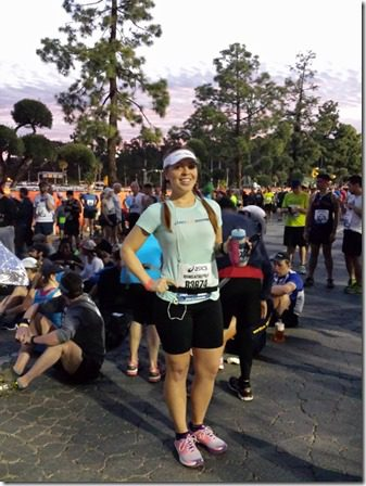 la marathon pre race start line 600x800 thumb LA Marathon and Carb Loading Mexican Style