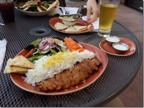 lamb plate at luna grill 800x600 thumb Dinner At Luna Grill
