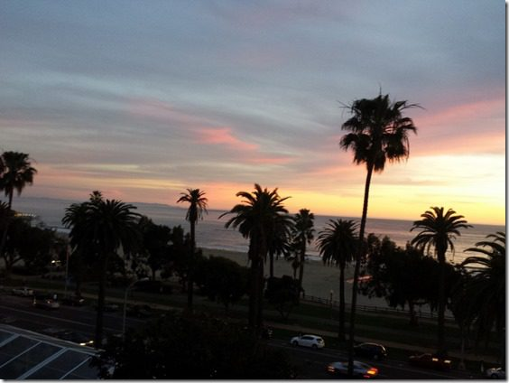 los angeles sunset pink 800x600 thumb LA Marathon Outtakes and Asics Giveaway Winners