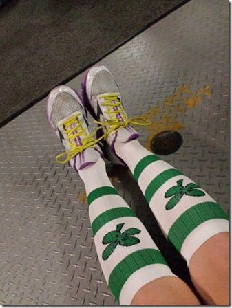 mizuno shoes and pro compression socks 600x800 thumb Catalina Marathon Results and Recap