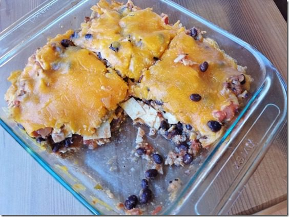 taco casserole healthy recipe 800x600 thumb Taco Casserole For Those Leftover Corn Tortillas