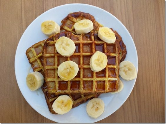 french toast waffles recipe 800x600 thumb French Toast Waffles Recipe–Whole Grain, High Protein Breakfast