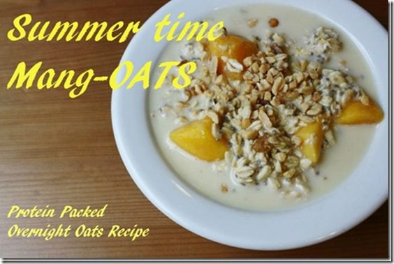 overnight oats with mango thumb Oats in a Jar is so 2013 Salad in a Jar is Now.