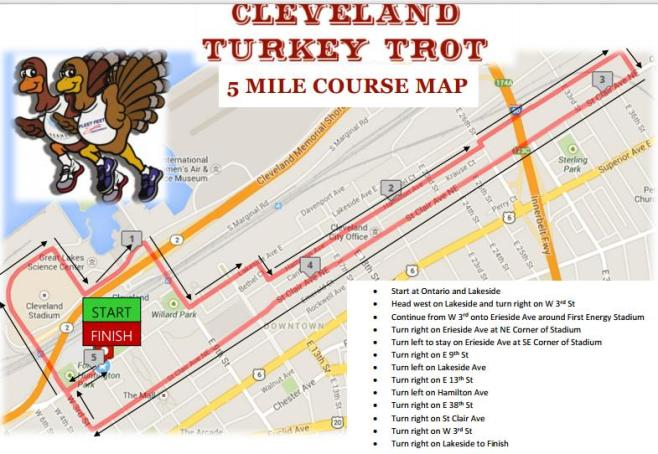 Cleveland Turkey Trot 2016 2017 Date Registration Course