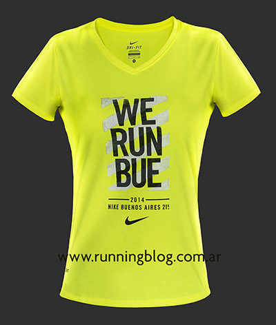 Remera Mujer - We Run Buenos Aires 21K