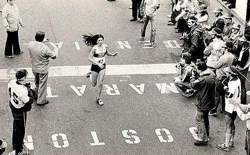 Patti Catalano Finishes The 1981 Boston Marathon