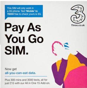 SIM Pack as seen at airport