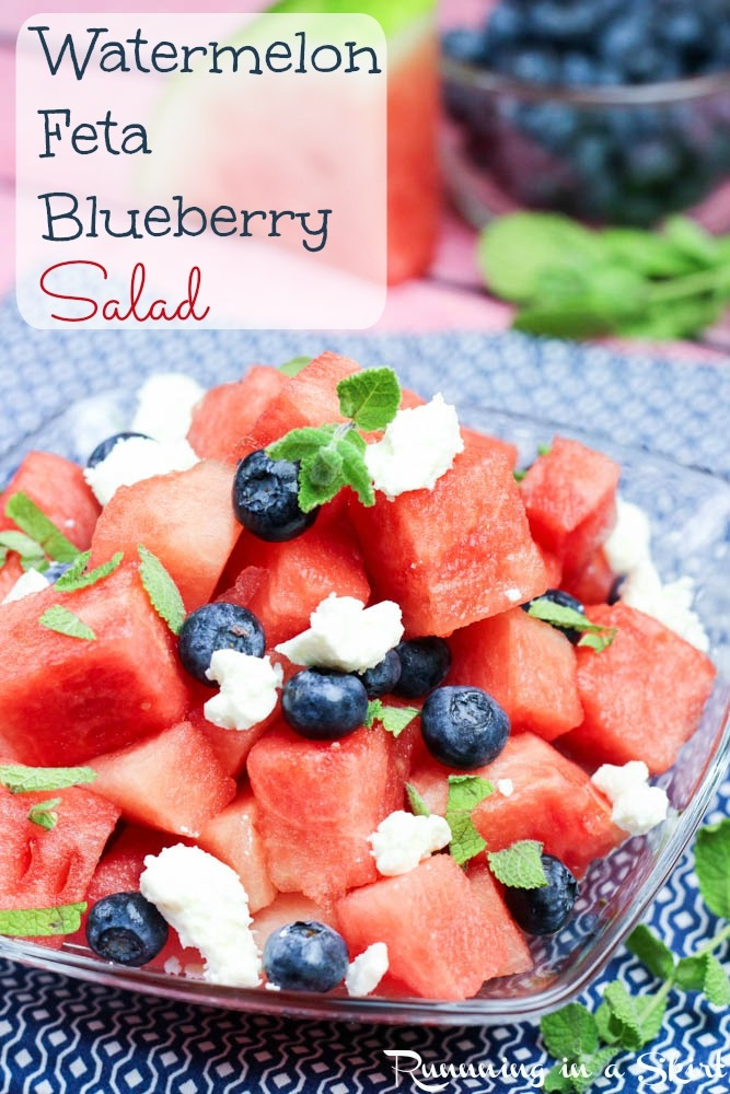 Watermelon Feta Salad Recipe | Running in a Skirt