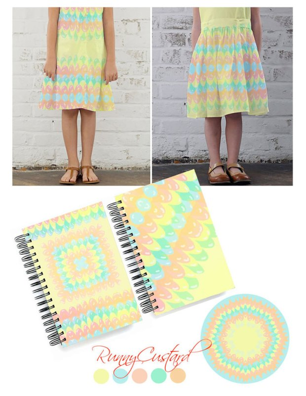 jelly wave, fun, kids design, surface pattern
