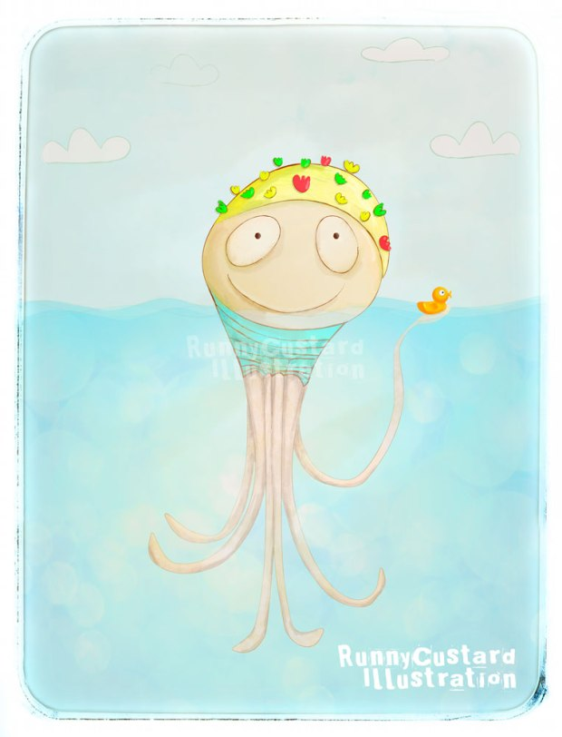 Swimming-Cap-Octopus