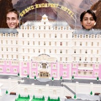 The Grand Budpest Hotel, built with 50,000 Lego blocks