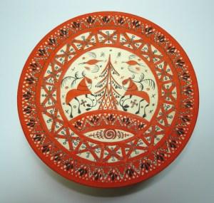 мезенская роспись олени