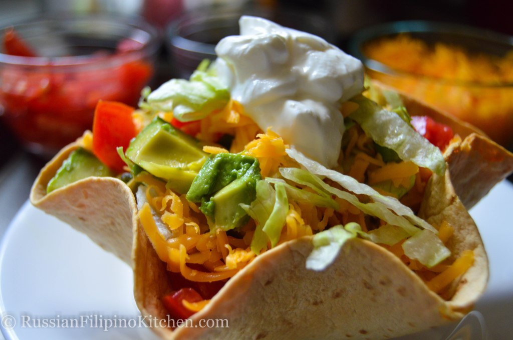 Taco Salad In Tortilla Bowl