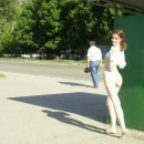 Russian teen naked on the streets