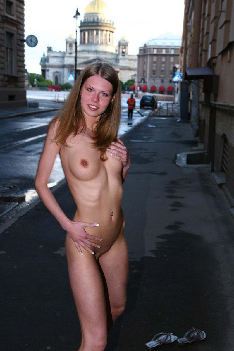 girls caught naked in public