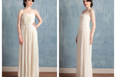 strapless vintage style wedding gown .optimal
