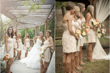 cowboy boots with bridesmaid dresses