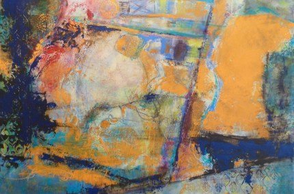 New Abstract in Cold Wax & Oil