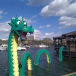 water dragon made from legos in legoland florida
