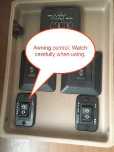 Jayco travel trailer control center awning control