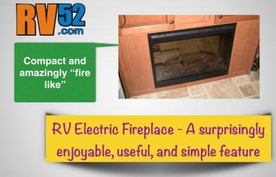 "RV Fireplace Insert RV52 The ""Start Here"" Button"