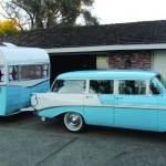 '56 Chevy wagon and a matching Shasta