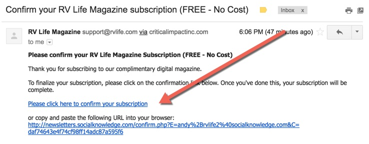 Sample Email (Double Opt-in)
